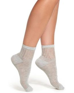 Roseland Metallic Ankle Socks