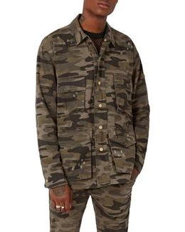 Aaa Collection Distressed Camo Field Jacket