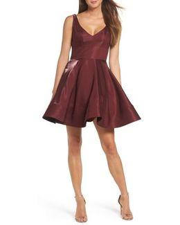 Shimmer Fit & Flare Dress