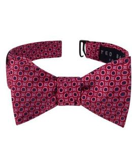 Connected Circles Silk Bow Tie