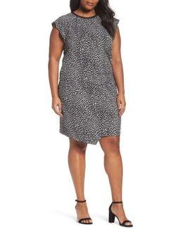 Cheetah Print Flutter Sleeve Dress