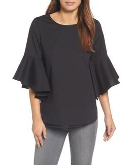 Knot Bell Sleeve Knot Top