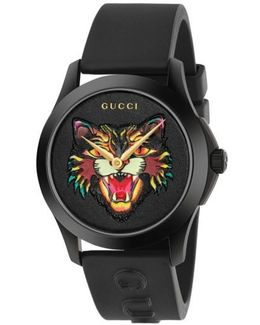 Angry Cat Rubber Strap Watch