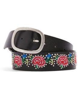 Floral Embroidered Belt