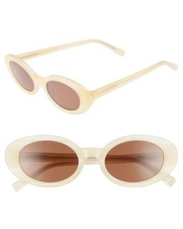 Mckinely 51mm Oval Sunglasses - Sunshine Horn