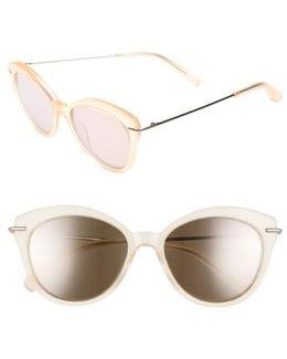 Wright 53mm Cat Eye Sunglasses - Lemon