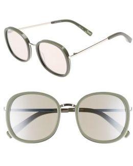 Jones 51mm Round Sunglasses
