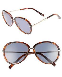 Reed 57mm Aviator Sunglasses