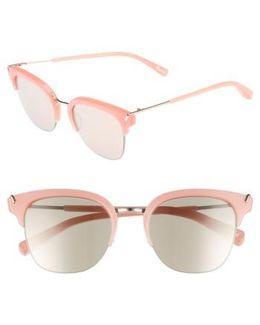 Burke 52mm Horn Rimmed Sunglasses - Bubblegum