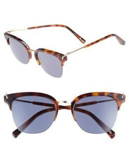 Burke 52mm Horn Rimmed Sunglasses