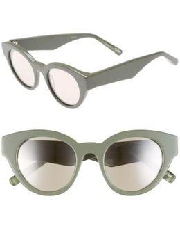Payton 48mm Cat Eye Sunglasses - Khaki