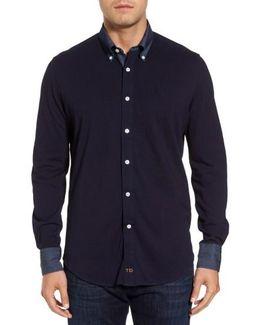 Chambray Trim Jersey Shirt