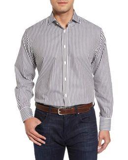 Stripe Herringbone Sport Shirt