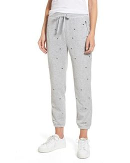 Velour Studded Track Pants