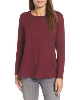 High/low Bow Back Top