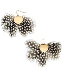 Monarch Feather Statement Earrings