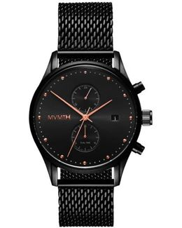 Voyager Chronograph Mesh Strap Watch