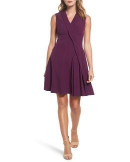 Stretch Crepe A-line Dress
