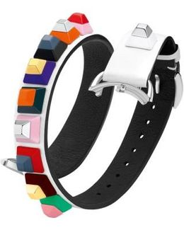 Selleria 17mm Embellished Leather Watch Strap