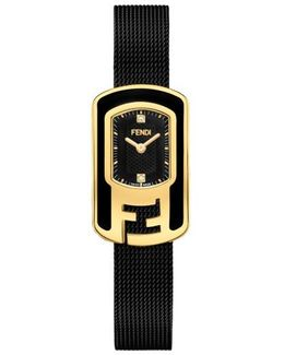 Chameleon Diamond Mesh Strap Watch