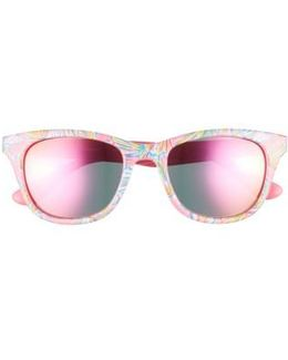 Lilly Pulitzer Maddie 52mm Polarized Mirrored Sunglasses