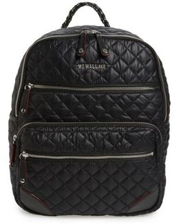 Crosby Quilted Oxford Nylon Backpack
