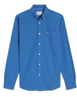Gingham Check Poplin Shirt