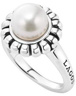 'luna Pearl' Fluted Ring