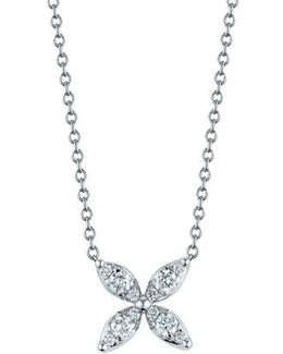'sunburst' Diamond Pendant Necklace