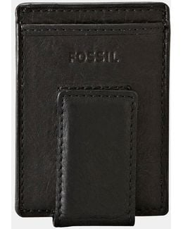 'ingram' Leather Magnetic Money Clip Card Case