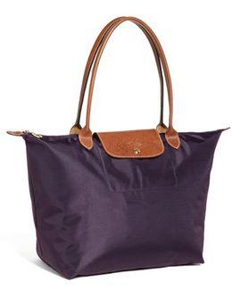 'large Le Pliage' Nylon Tote - Purple