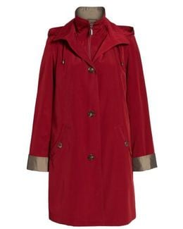 A-line Raincoat With Detachable Hood & Liner
