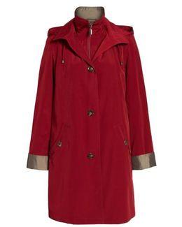 A-line Raincoat With Detachable Hood & Liner