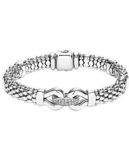 'derby' Diamond Buckle Rope Bracelet