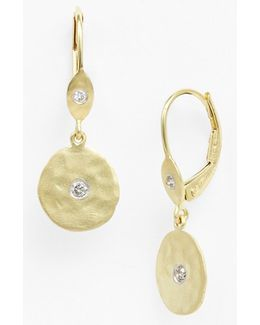 Meirat 'charmed' Diamond Hammered Drop Earrings
