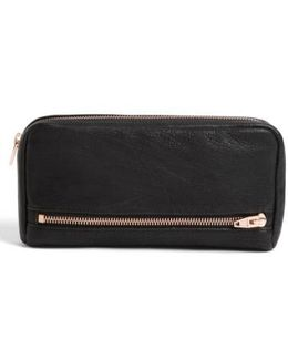 'fumo' Zip Top Leather Pouch Wallet