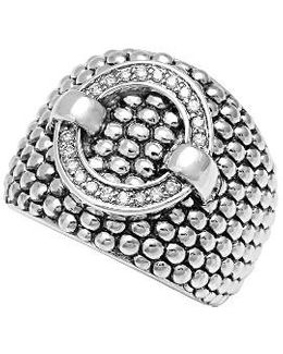 'enso' Diamond Statement Ring