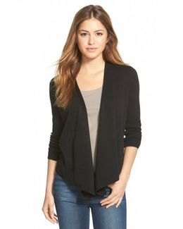 '4-way' Convertible Three Quarter Sleeve Cardigan
