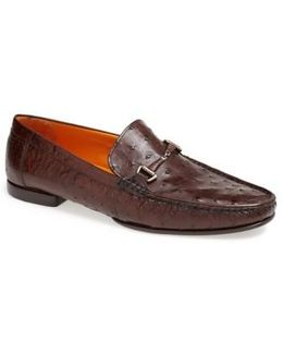 'vittorio' Ostrich Leather Bit Loafer