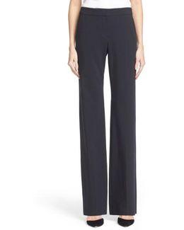 Straight Leg Featherweight Wool Pants