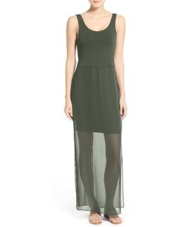 Overlay Chiffon Maxi Dress