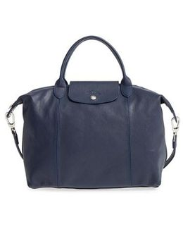 'le Pliage Cuir' Leather Handbag