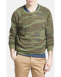 'the Champ' Camo Print Crewneck Sweatshirt