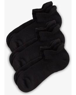 3-pack Tab Back Socks, Black