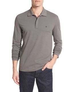 Victorinox Swiss Army Tailored Fit Long Sleeve Zip Polo