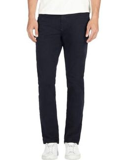 'kane' Slim Fit Cotton Twill Pants