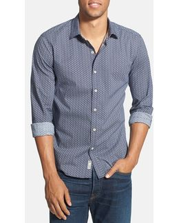 'blueberry Hill' Trim Fit Print Woven Shirt