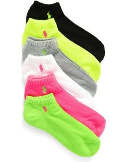 Sport 6-pack Low-cut Socks, Pink