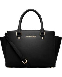'medium Selma' Leather Zip Top Satchel