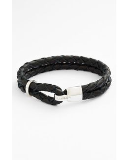 'beacon' Braided Leather Bracelet